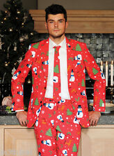 Mens Christmaster OppoSuit Christmas Fancy Oppo Suit Party Adult Holiday Costume