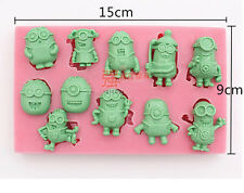 Silicone Fondant Cake Cook deco mold Sugarcraft Mould Minions Despicable Me tool