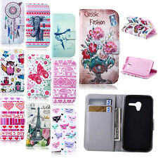 Pretty Patterned Card Hold Handbag Flip Leather Wallet Stand Soft Case Cover