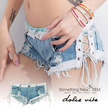 2015 Hot Lady Fashion Women's Sexy Slim Fit Frazzle Nightclub Denim Shorts S M L