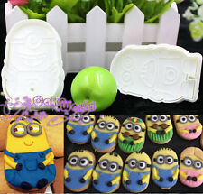Minions Fondant Mold Cake Decorating Tools Plunger Cookie Cutter Despicable Me
