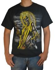 Licensed IRON MAIDEN Killers Jumbo Print Eddie Black Heavy Metal T-Shirt Black