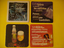 4 Vintage Beer Bar Coaster ^*^ Kronenbourg Brewery Since 1664 ~ Obernai, France