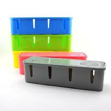 Home DIY Safety Socket Board Power Cables Storage Box Organizer Container Box