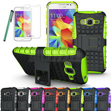 Rugged Armor Hybrid Case Hard Cover+LCD Fr Samsung Galaxy Core Prime Prevail LTE