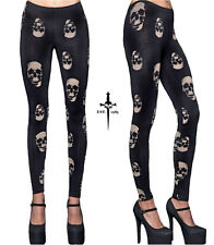 LIP SERVICE LEGGINGS LEGGING JEANS SKULL EMO GOTH GOTHIC PANTS PUNK ROCKABILLY