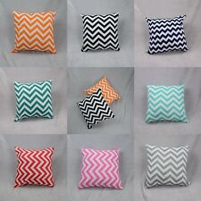 Chevron Waved Stripes Square Cotton Waist Cushion Cover Pillow Cover 45cmx45cm