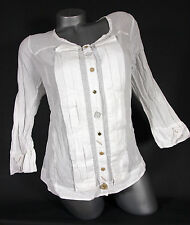 Bottega  Bluse weisse Baumwoll  Crash Look Gr. XL +  XXL NEU SALE !!