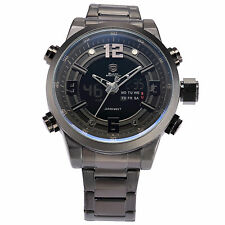 Shark Fashion Mens Sport LCD Analog Stainless Steel Quartz Date Day Wrist Watch