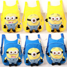 Kids Toddler Child Despicable Me Minion Doll Plush Cartoon School Bag Backpack