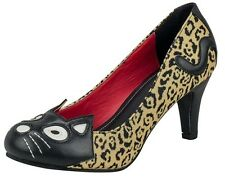 TUK Leopard 50s KITTY Rockabilly Heels ~ PsychoBiLLy GOthiC PinUp Shoes Cat Punk