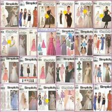 Misses Formal Prom Bridal Evening Gown Cocktail Dress Simplicity Sewing Pattern