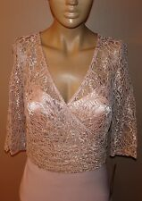 JS COLLECTIONS PINK ROSE LACE UPPER EVENING GOWN LONG DRESS NYCTO $299 #1125