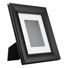 Verandah Table-Top 8x10 Vintage Black Standing Picture Frame with Mat