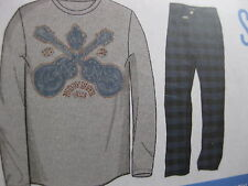 NWT LUCKY BRAND SLEEPWEAR SET MEN'S COTTON SLEEP SET SPORT LIFESTYLE LONG SLEEVE