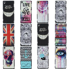 Fashion Patterned Classic Embossed Slim Hard Cover Case For Sony Xperia Z3 Z2 Z1