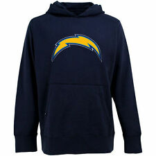 Antigua San Diego Chargers Signature Pullover Hoodie - Navy Blue - NFL