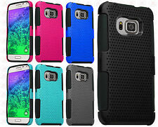 Samsung Galaxy S6 MESH Hybrid Silicone Rubber Skin Protector Cover +Screen Guard