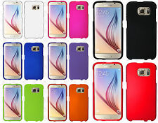 For Samsung Galaxy S6 Rubberized HARD Protector Case Phone Cover +Screen Guard