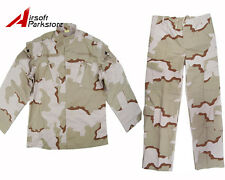 Military Special Force Army Tactical Combat BDU Uniform Shirt Pants Desert Camo