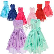 Flower Girl Dress Kids Pageant Birthday Wedding Bridesmaid Gown Formal Dresses