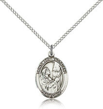 """Saint Magdalene Sterling Silver, Sterling Filled, or Pewter, 24"""", 18"""" Chain"""