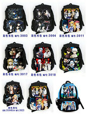 8 style anime bag Fairy tail backpack GINTAMA Death Note SAO shoulder school bag