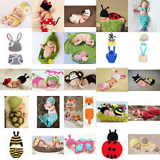 Infant Boy Girl Baby Newborn Crochet Knitted Hat Costume Photography Prop Outfit
