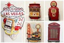 San Francisco Las Vegas London Phone Booth Night Light Souvennir Lamp Nightlight