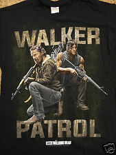 The Walking Dead Tv Show Rick and Daryl Walker On Patrol With Guns T-Shirt