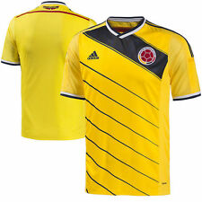Colombia adidas 2014/15 Replica Home Soccer Jersey - Yellow