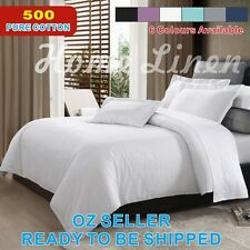 500TC EGYPTIAN COTTON Quilt/Doona/Duvet Cover Set King/Queen/Double Bed