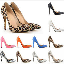 Sexy Women's Pointy Toe Stilettos High Heels Snake Printing OL Party Shoes Pumps