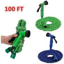 100FT Expanding Flexible Garden Water Hose Car Washing Gun Spray Nozzle Head IFA