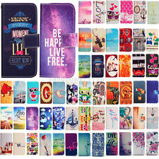 Patterned Wallet Card PU Leather Stand Case Cover For Samsung Galaxy A3 A5 A7 S6