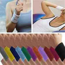 Cool Soft Sports Unisex Cotton Sweatband Wristband Sweat Wrist Band Gym Yoga New