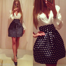 White Chiffon Polka Dot Side Zipper Deep V Neck Long Sleeve Mini Dress 18Q4