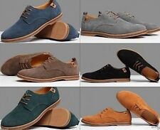Hot Fashion Mens Oxford Casual Suede Wingtip Lace Up Dress Formal Shoes