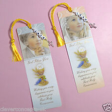 Boy Girl Personalised Cross Charm First Holy Communion Bible Card Bookmark Gift