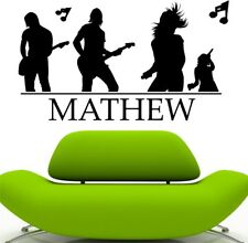 ROCK BAND wall sticker music kids bedroom living room vinyl wall decal
