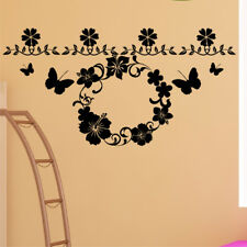 FLORAL flower wall stickers vinyl decor removable big transfer large art sticker