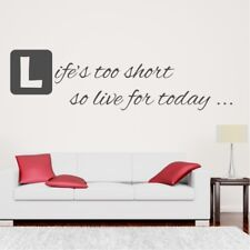 LIFES TO SHORT wall quote Dr seuss decal vinyl art sticker transfers stickers