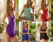 NEW Fashion Sexy Lingere Floral Chemise Sleepwear Gown Robe Plus Size K208