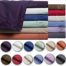 NEW 1800 COUNT DEEP POCKET 4 PIECE BED SHEET SET CHOOSE SIZE AND COLOR