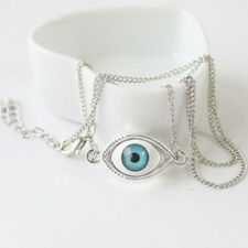 Fashion Devil's Eye Eyeball Pendant Cool Retro Bronze Evil Eye Necklace Style