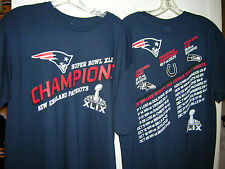 NEW ENGLAND PATRIOTS SUPER BOWL CHAMPIONS CHAMPIONSHIP WAY SCHEDULE T-SHIRT