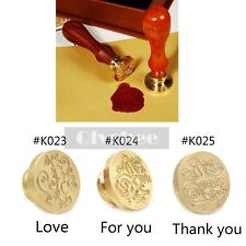 1X Greetings Sealing Stamp Brass Head Retro Invitation Letter Wax Seal Stamp New