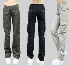 Fashion Girls Womens Military Army Cargo Pocket Pants Leisure Trousers Outdoor