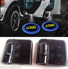 2 x Wireless Car Motorcycle Welcome Ghost Courtesy Door LED Shadow Logo Light BK