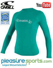O'Neill Women's Rashguard 50+ UV Protetion Long Sleeve Sun Protective Clothing